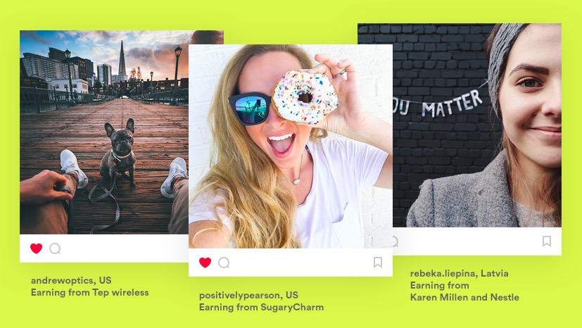 Photos by micro influencers for brand campaigns